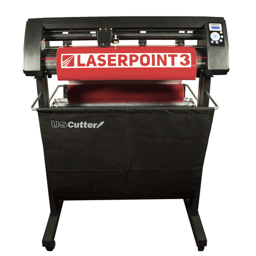 """Refurbished 28"""" LaserPoint 3 Vinyl Cutter with Stand and Catch Basket"""