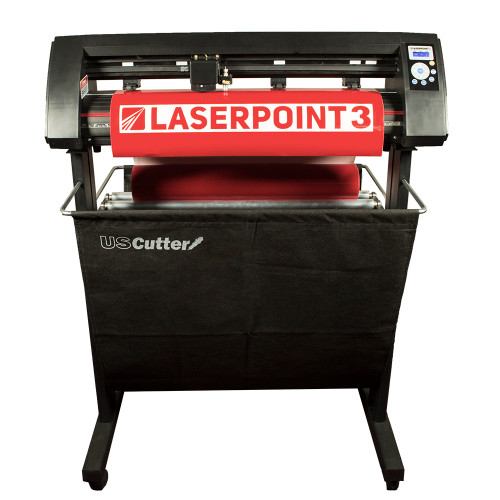 "Refurbished 28"" LaserPoint 3 Vinyl Cutter with Stand and Catch Basket"