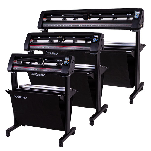"Refurbished 34"" LaserPoint 3 Vinyl Cutter with Stand and Catch Basket"