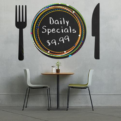 Chalktalk Slate Grey Printable Chalkboard Film Repositionable Adhesive