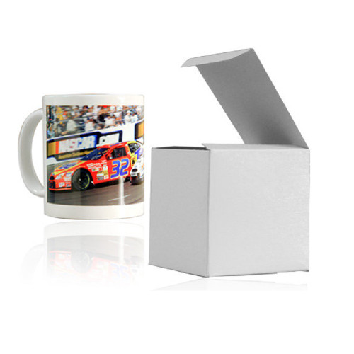 """Gift Boxes for 11 oz Mugs - White - 4""""x4""""x4"""" (25 Pack)"""