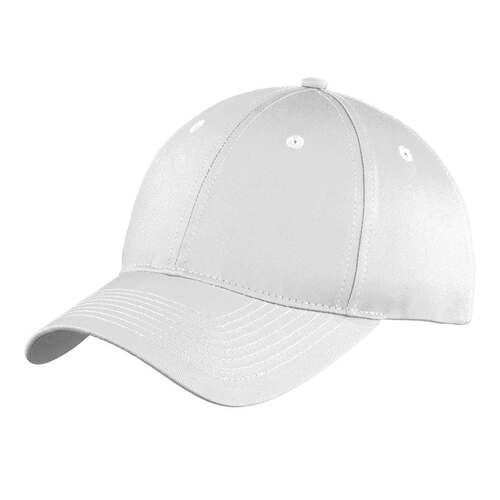White Unstructured Twill Baseball Cap Blank, Adult One Size Fits All