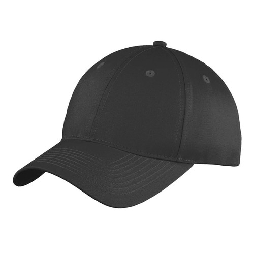 Black Unstructured Twill Baseball Cap Blank, Adult One Size Fits All