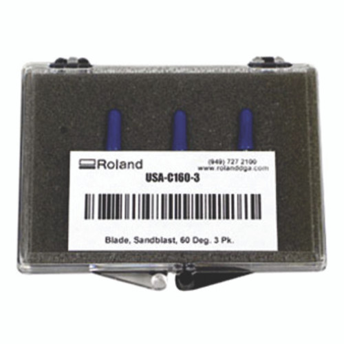 Roland 60 Degree Blade for Reflective, Flock, Twill, Paint Protection & Vinyl - Pack of 3