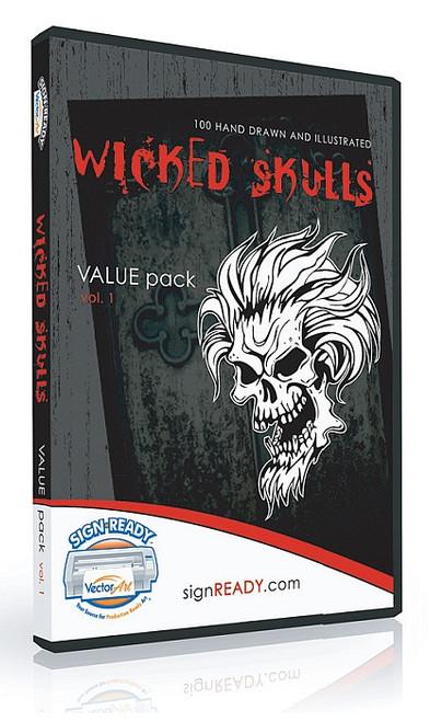 Wicked Skulls Clip Art - Volume 1