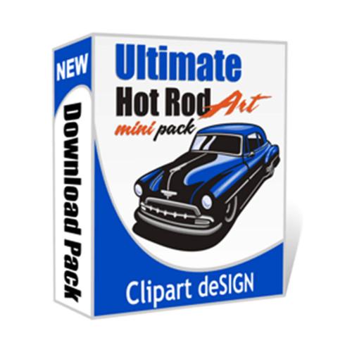 Ultimate Hot Rod Art MINI PACK Clip Art
