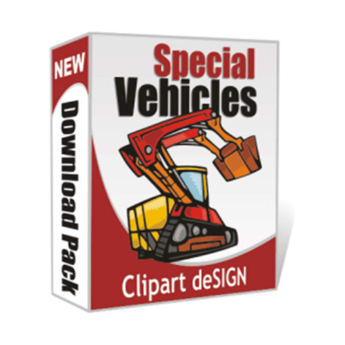 Special Vehicles, Construction Vehicle Clip Art, Vector, EPS Files