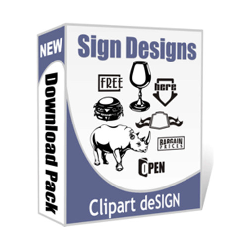 Sign and Design Objects, Shapes and Headings Clip Art