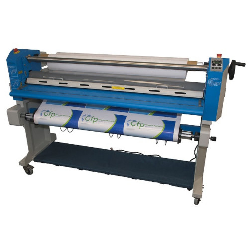 """Gfp 563TH-4R MaxPro 63"""" Top Heat Laminator with Rewind and Slitter"""