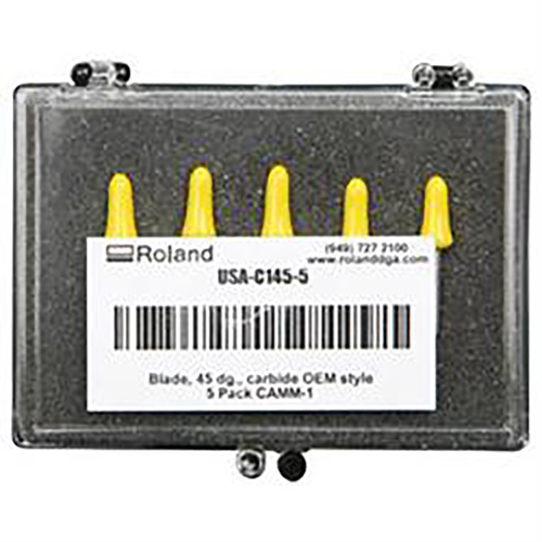 Genuine Roland Premium 45 degree blades for Cast & Calendered Vinyl 5 Pack