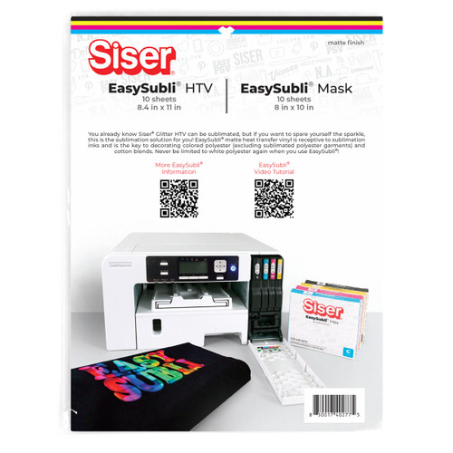 """Siser EasySubli 8.4"""" x 11"""" HTV and EasySubli Mask 10 Pack Combo"""