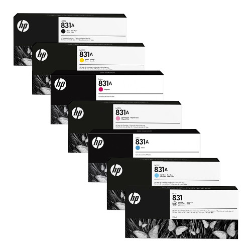 HP 831A 775ml Latex 300 & 500 Series Printer Ink & Optimizer Cartridges