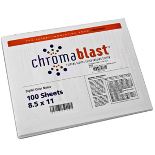 "8.5"" x 11"" ChromaBlast Heat Transfer Paper 100 Sheets"