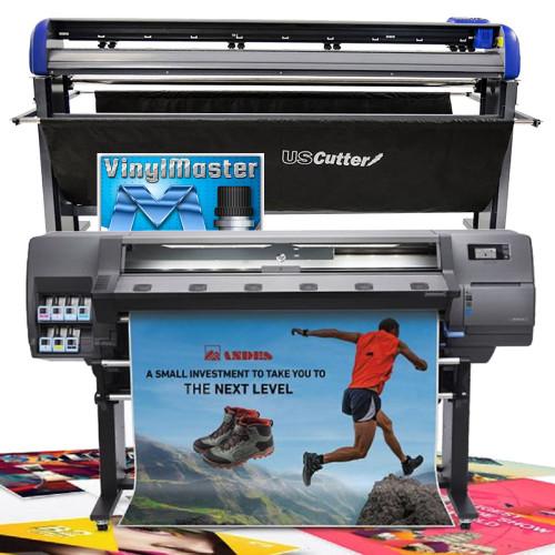 """HP Latex 115 54"""" Print Cut Starter Bundle with 68"""" Titan 3 Cutter"""