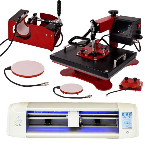 Precision Perfect Bundle - PrismCut w/ Heat Press for Signs & Heat Transfer