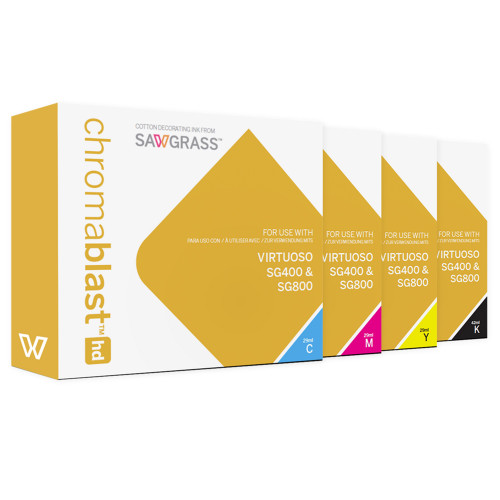 Sawgrass Chromablast HD Ink for Virtuoso SG400/SG800 for Use on Cotton