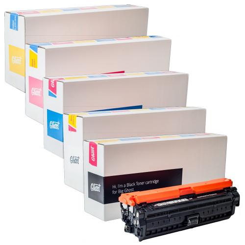 Ghost White or CMYK Individual Toner Cartridge for HP Color LaserJet CP5225dn Printer (Comparable to HP 307A)