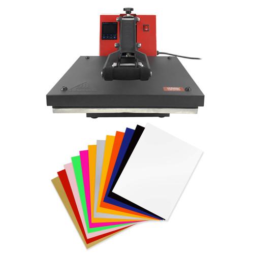 """15"""" x 15"""" Clamshell Heat Press & Included Siser Starter Kit"""