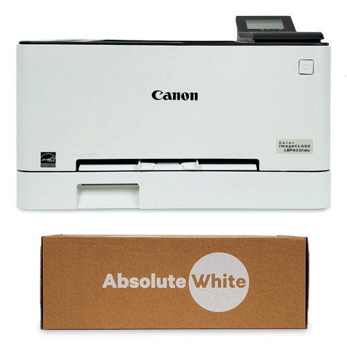 Canon LBP622Cdw Laser Printer with Absolute White Toner Cartridge