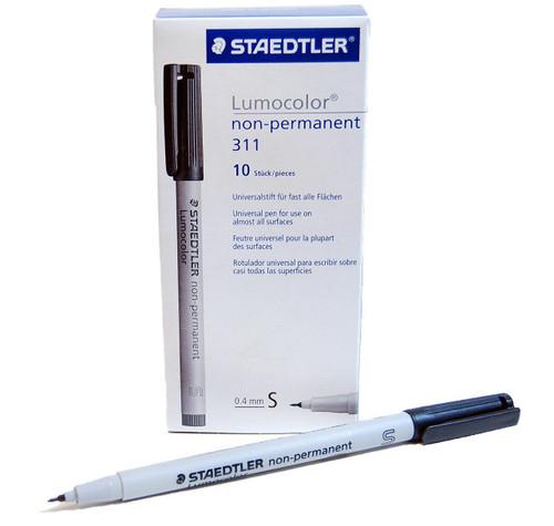 Graphtec STAEDTLER Fiber Tip Pen Black - 10 pack