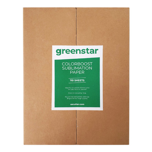 Greenstar Colorboost Sublimation Paper for Soft Surfaces 110 Sheets