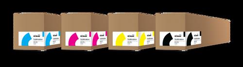 Uninet iColor 650 Sublimation CMYK Toner and Drum Cartridge Kit