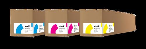 Uninet iColor 650 Fluorescent CMY Toner and Drum Cartridge Kit