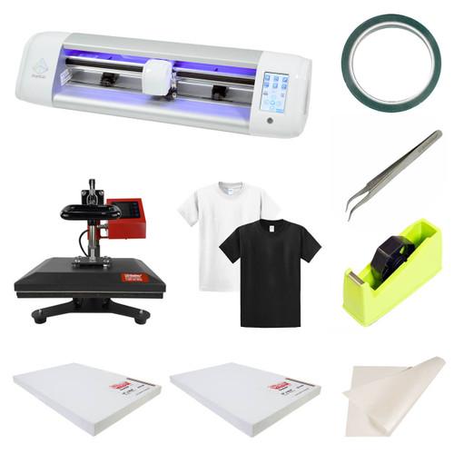 SISER EasySubli Sublimation Vinyl Cutter + Heat Press and Supplies Combo Kit