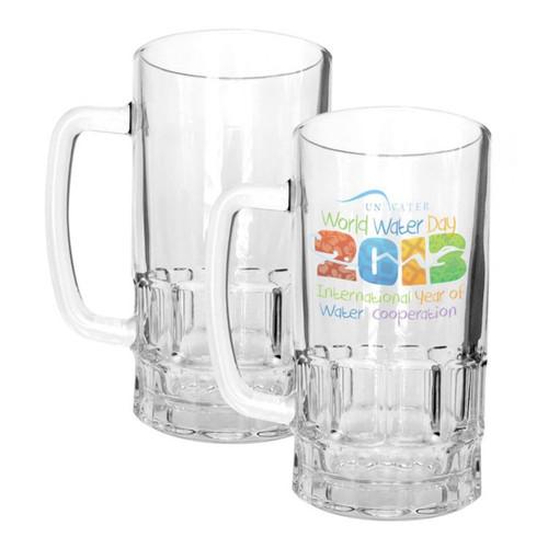18oz Clear Glass Beer Mug Dye Sublimation Blank