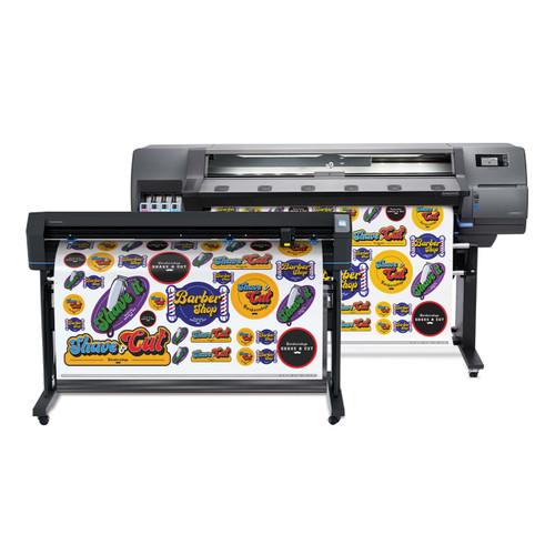 HP Latex Print & Cut Plus Solution - HP 115 54in Printer and 54in HP Basic Plus Vinyl Cutter