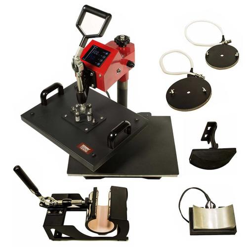 "5-in-1 Heat Press 11"" x 15"" Swing Arm, Mug, Hat & Plate Press"