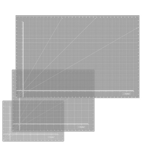 "Pearl White Self Healing Cutting Mat, 8.7"" x 12"" to 36"" x 48"" Sizes"