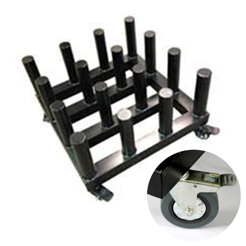 Rolling Floor Rack for Vinyl Roll Storage - Heavy Duty - 16 Spindles