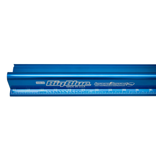 """Big Blue Aluminum Safety Ruler, 28"""" to 96"""" Sizes Available"""