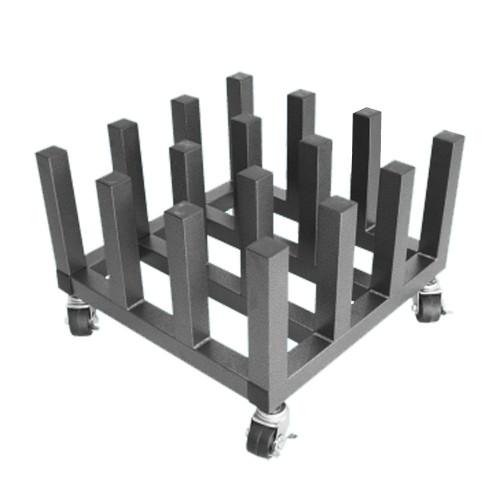 "Mobile Floor Rack for Vinyl Rolls - Heavy Duty - Holds 16 x 3"" Cores"