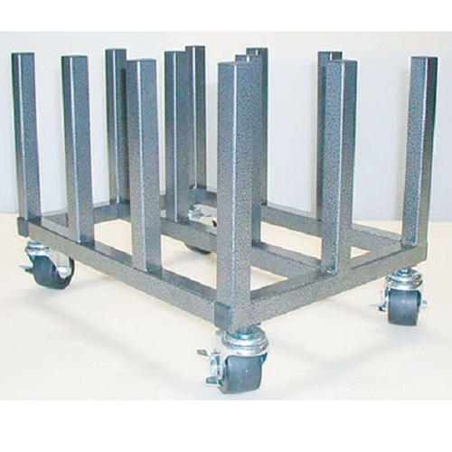 "Mobile Floor Rack for Vinyl Rolls - Heavy Duty - Holds 12 x 2"" Cores"