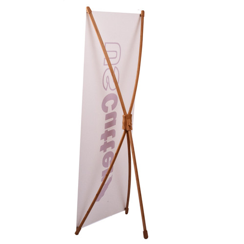 Bamboo X-Banner Stand, 2 ft x 5 ft