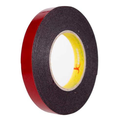 "Double-Sided Foam Tape, Black - 3/4"" x 35', Roll 1/8"" Thickness"