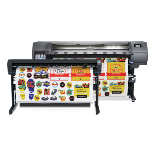 "HP Latex 335 Print & Cut Plus Solution - 64"" Wide Format Printer & Vinyl Cutter with Inks"