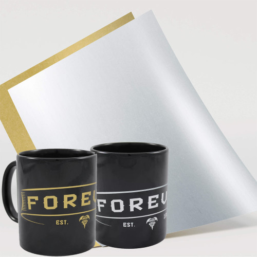 Forever Multi-Trans Metallic Gold or Silver Toner Paper for Hard Surfaces