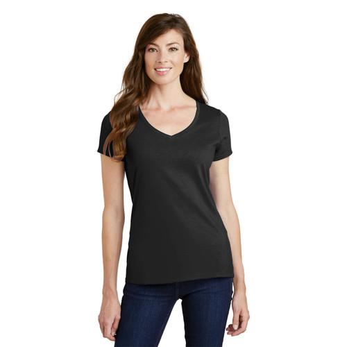 Ladies V Neck Tee Shirt Blank 100% Cotton