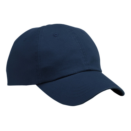 Navy Baseball Hat Blank Unstructured Washed Twill Cap
