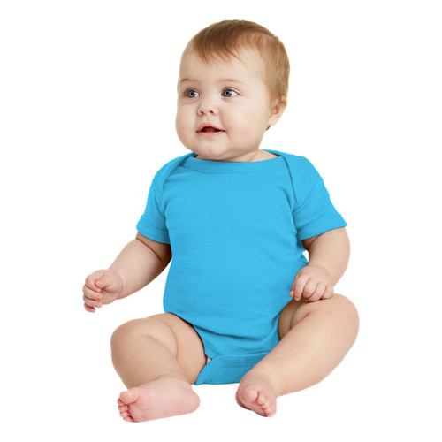 Colored Baby Bodysuit Plain Short Sleeve Infant Body Suit NB, 6M, 12M, 18M, 24M