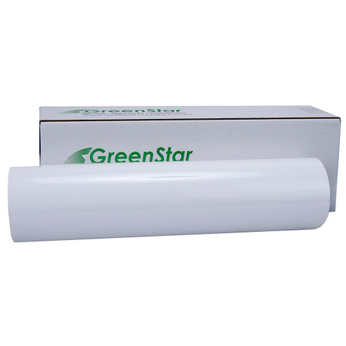"24"" GreenStar Dry Erase Adhesive Vinyl, 4mil, White or Clear"