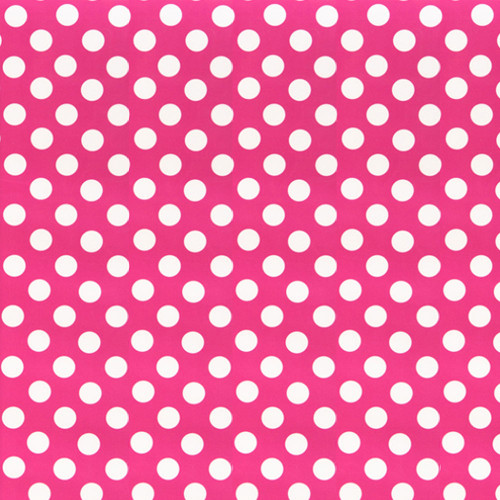 "15"" Chemica Pink Polka Dot Fashion Print Heat Transfer Vinyl"