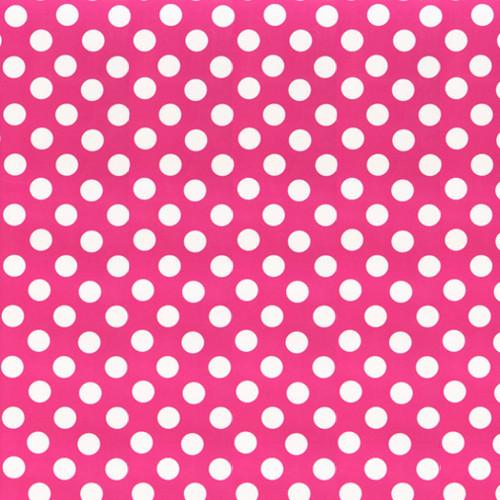 "15"" Chemica Pink Polka Dot Fashion Print Heat Transfer Vinyl"