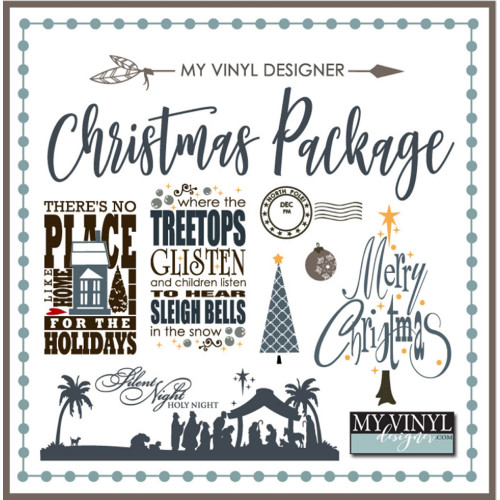 Christmas Vector Art Package for Vinyl Cutting: Cuttable AI, EPS, SVG & GSD Files on USB