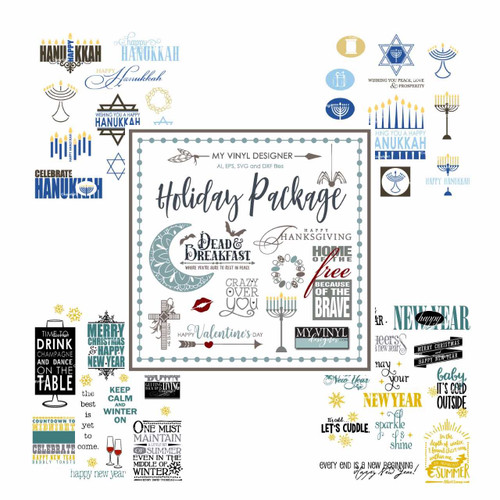 Holiday Clipart USB Package, Vector Art Images for Year Round Events