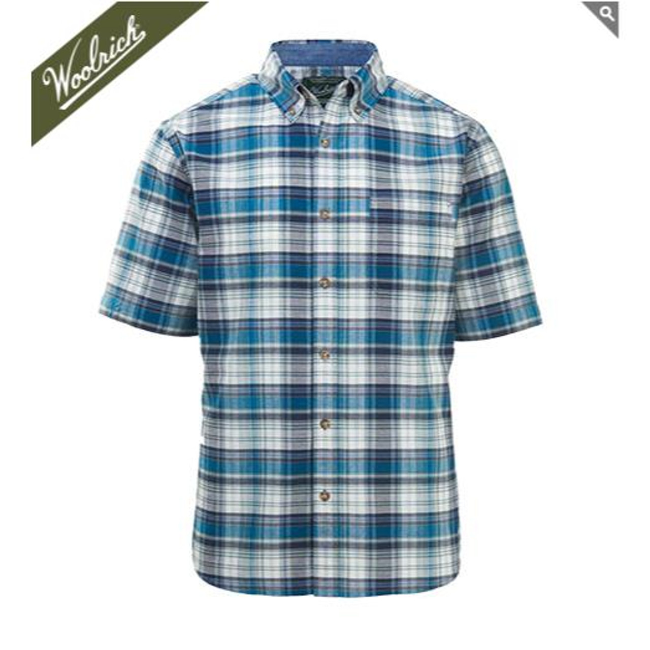 8e174409edc803 Woolrich Men's Timberline Short Sleeve Madras Plaid Shirt - 100% Organic  Cotton #6163 -. COLOR: Required