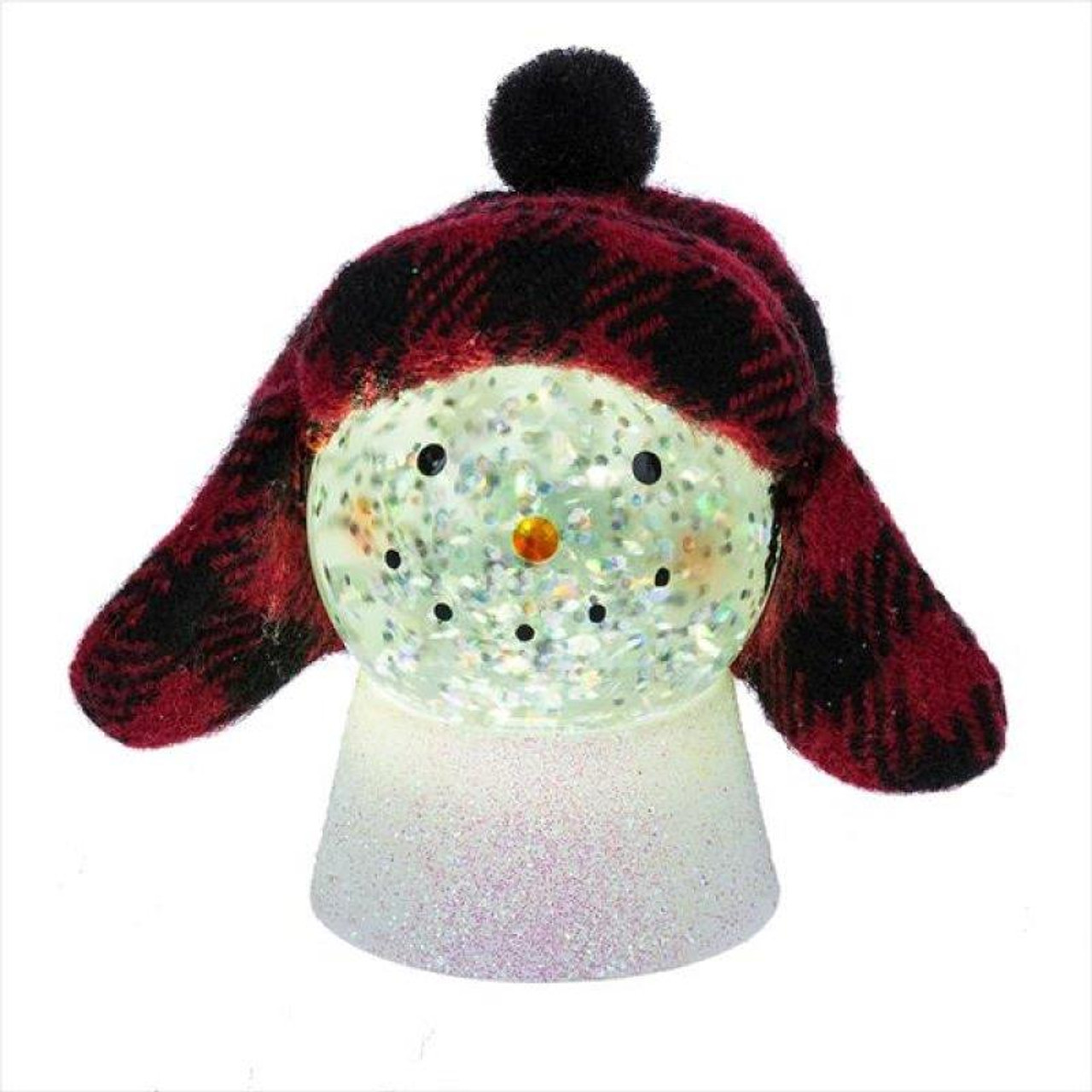 Midwest Cbk Lighted Led Hipster Snowman Mini Shimmer 151219